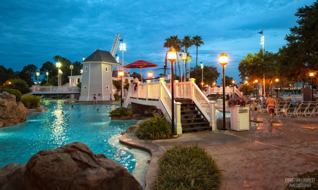 A magical evening glow, at Disney's Beach Club Resort