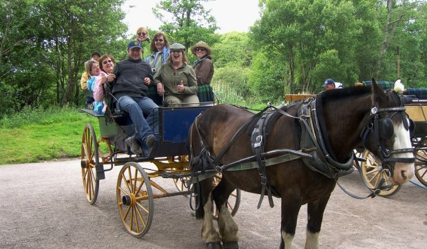 Ride in a jaunting car in Ireland