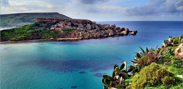 The shores of Malta's Riviera Bay