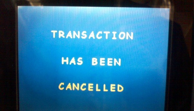 Transaction has been cancelled