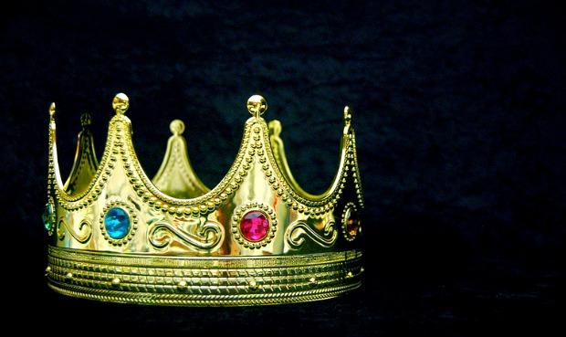 Gem encrusted gold crown