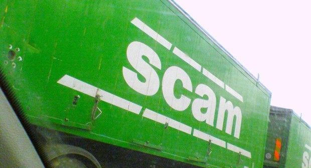 Scam trucks waiting in line