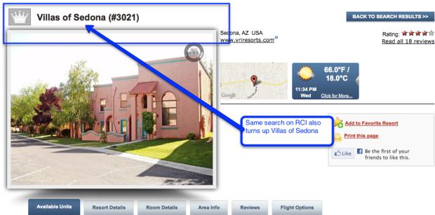 RCI - Villas of Sedona