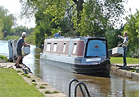 Canalboat at Sawley Marina