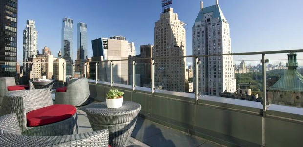 The rooftop terrace at West 57th Street