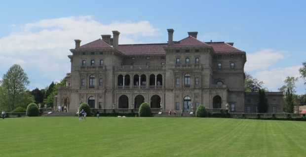 The famous Breakers mansion in Newport, RI