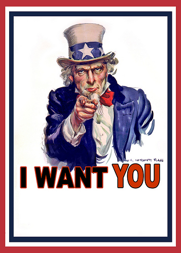 Uncle Sam says I Want You
