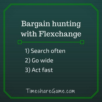 Bargain hunting with Flexchange