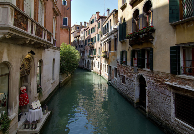 A small canal in Venice, Italy