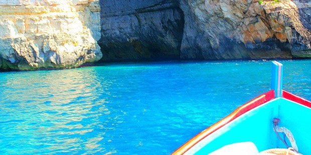 The famous Blue Grotto in Malta