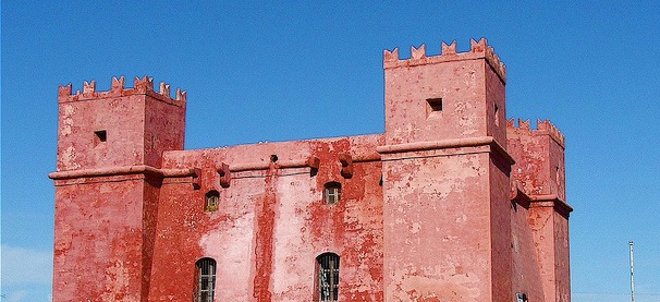 The Red Tower, built by the Knights of Malta