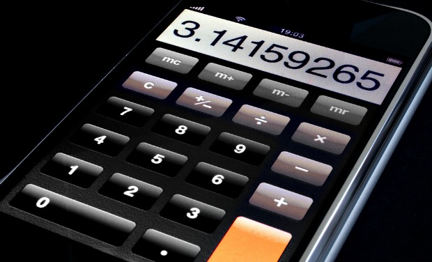 Calculator on an iPhone