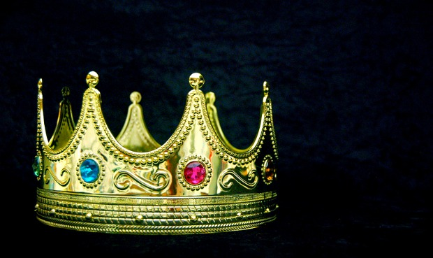 Gem encrusted gold crown