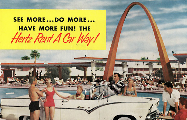 Vintage Hertz car rental ad
