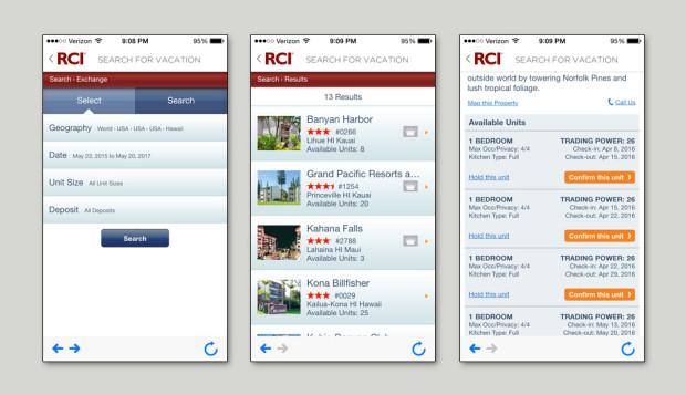 RCI timeshare app