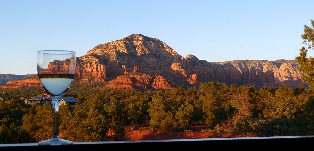 Red rocks view in Sedona