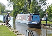 Canalboat at Sawley Marina
