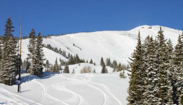 Snowy slopes at Breckenridge