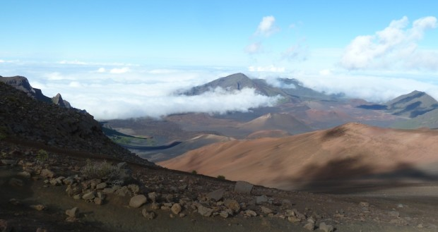 View from the crater at Haleakala volcano, Maui