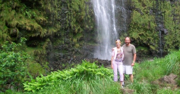A waterfall along Maui's Hana Highway