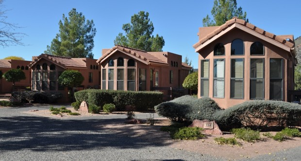 The units at Sedona Pines Resort are individual modular homes
