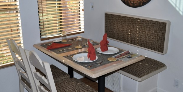 Built in dinette at Sedona Pines